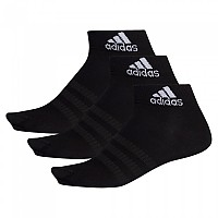 [해외]아디다스 Light Ankle 3 Pair Black / Black / Black