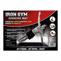 [해외]IRON GYM Exercise Mat Black