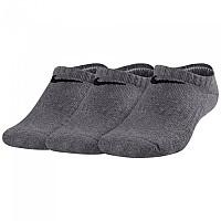 [해외]나이키 Everyday No Show Cushion 3 Pair Dark Grey Heather / Black