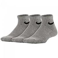 [해외]나이키 Everyday Ankle Cushion 3 Pair Dark Grey Heather / Black