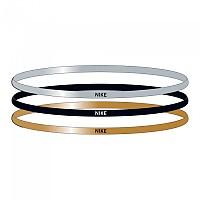 [해외]나이키 ACCESSORIES Elastic Hairbands 3 Units Silver / Gold / Black