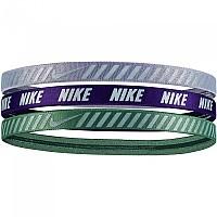 [해외]나이키 ACCESSORIES Printed Hazard Stripe Headband Pack 3 Units Green / Purple / Grey