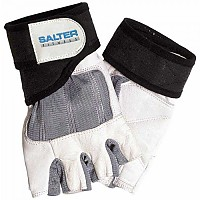 [해외]SALTER Spandex Leather Gloves Grey / White