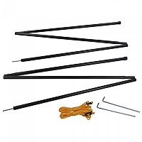 [해외]REGATTA Canpoy Pole Set Black