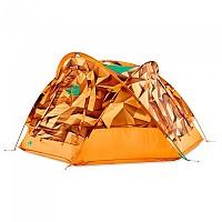 [해외]노스페이스 Homestead Domey 3 Zinnia Orange Low Poly Print / Citrine Yellow