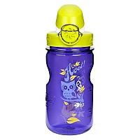 [해외]날진 OTF Kids Bottle 350ml Violet with Owl motif / Loop-Top Lime and White