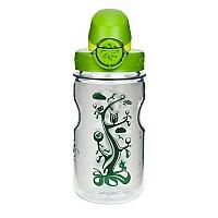 [해외]날진 OTF Kids Bottle 350ml Transparent with Nature motif / Loop-Top Green and White