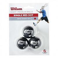 [해외]윌슨 Staff Medium Single Red Dot Black