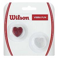 [해외]윌슨 Vibra Fun Glitter Hearts 2 Units Red / Silver