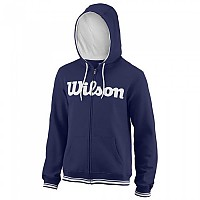 [해외]윌슨 Team Script Full Zip Hooded Blue Depths / White