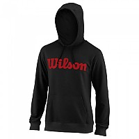 [해외]윌슨 Script Cotton Hooded Black / Wilson Red