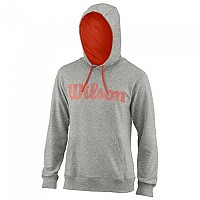 [해외]윌슨 Script Cotton Hooded Heather Grey / Fiesta