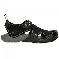 [해외]크록스 Swiftwater Sandal Black / Charcoal