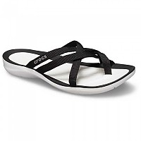 [해외]크록스 Swiftwater Webbing Flip Black / White