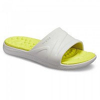 [해외]크록스 Reviva Slide Pearl White / Citrus