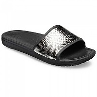 [해외]크록스 Sloane MetalText Slide Gunmetal / Black