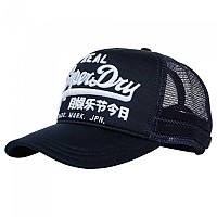 [해외]슈퍼드라이 Vintage Logo Edition Trucker Dark Navy Twist