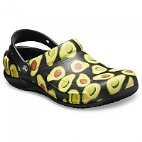 [해외]크록스 Bistro Graphic Clog Black / Volt?Green