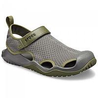 [해외]크록스 Swiftwater Mesh Deck Sandal Slate Grey