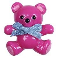 [해외]JIBBITZ 3D Teddy Bear Card Fuchsia
