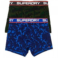 [해외]슈퍼드라이 Sport Boxer Double Pack Blue Tone Camo / Forest Camo