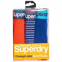 [해외]슈퍼드라이 Sport Trunk Triple Pack Lay Up Blue / Lay Up Blue Stripe / Sunset Orange