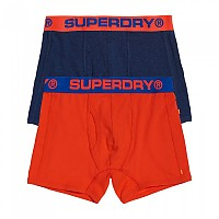 [해외]슈퍼드라이 Sport Boxer Double Pack Regal Blue Grit / Sunset Orange