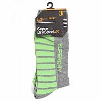 [해외]슈퍼드라이 Sport Mid Athl Sock 3 Pack Optic / Black / Grey Marl