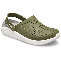 [해외]크록스 LiteRide Clog Army Green / White