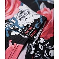 [해외]슈퍼드라이 Strappy All Over Print Bodysuit Rose Aop