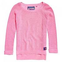[해외]슈퍼드라이 Waffle Acid Wash Knit Fluro Pink