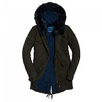 [해외]슈퍼드라이 Hawk Coloured Faux Fur Khaki / Blue Fur