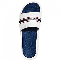 [해외]슈퍼드라이 Crewe International Slide Off White / Navy Blue / Red