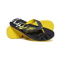 [해외]슈퍼드라이 Scuba Faded Logo Charcoal / Fluro Yellow