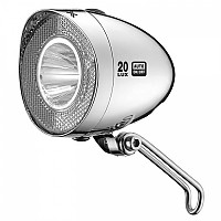 [해외]XLC Headlight Retro CL D03 20 Lux / Chrome