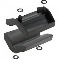 [해외]VAR 세트 Of 2 Rubber 클램프 Covers Black