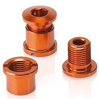 [해외]XLC Chain Ring Screws Coloured Edition 5 Pieces Orange