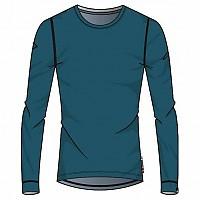 [해외]오들로 Natural 100% Merino Warm SUW Top L/S Blue Coral / Grey Melange