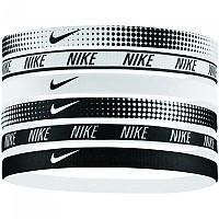 [해외]나이키 ACCESSORIES Printed Headbands Pack 6 Units White / White / Black