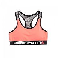 [해외]슈퍼드라이 Sport Essentials Bra Vivid Coral / Gritty Black