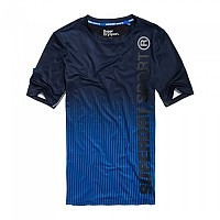[해외]슈퍼드라이 Sports Athletic S/S Tee Dissolve Cobalt / Black Print