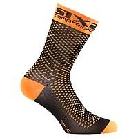 [해외]SIXS Compression Ankle Socks Orange Fluo