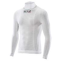 [해외]SIXS Light High Neck L/S Shirt White