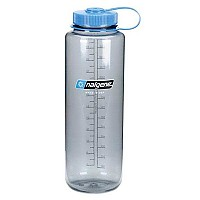 [해외]날진 Wide Mouth Bottle 1.5L Gray / Loop-Top Blue