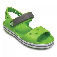 [해외]크록스 Crocband Sandal Kids Volt Green / Smoke