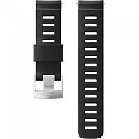 [해외]순토 24mm Dive 1 Silicone Strap Black / Steel