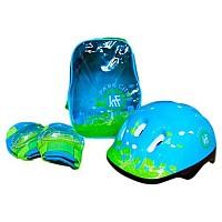 [해외]PARK CITY Backpack+Protections+Helmet Blue