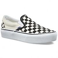 [해외]반스 UA Classic Slip On Platform Black And White Checker / White