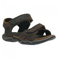 [해외]팀버랜드 Oak Bluffs Leather 2Strap Junior Dark brown