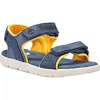 [해외]팀버랜드 Nubble Leather And Fabric 2-Strap Youth Medieval Blue